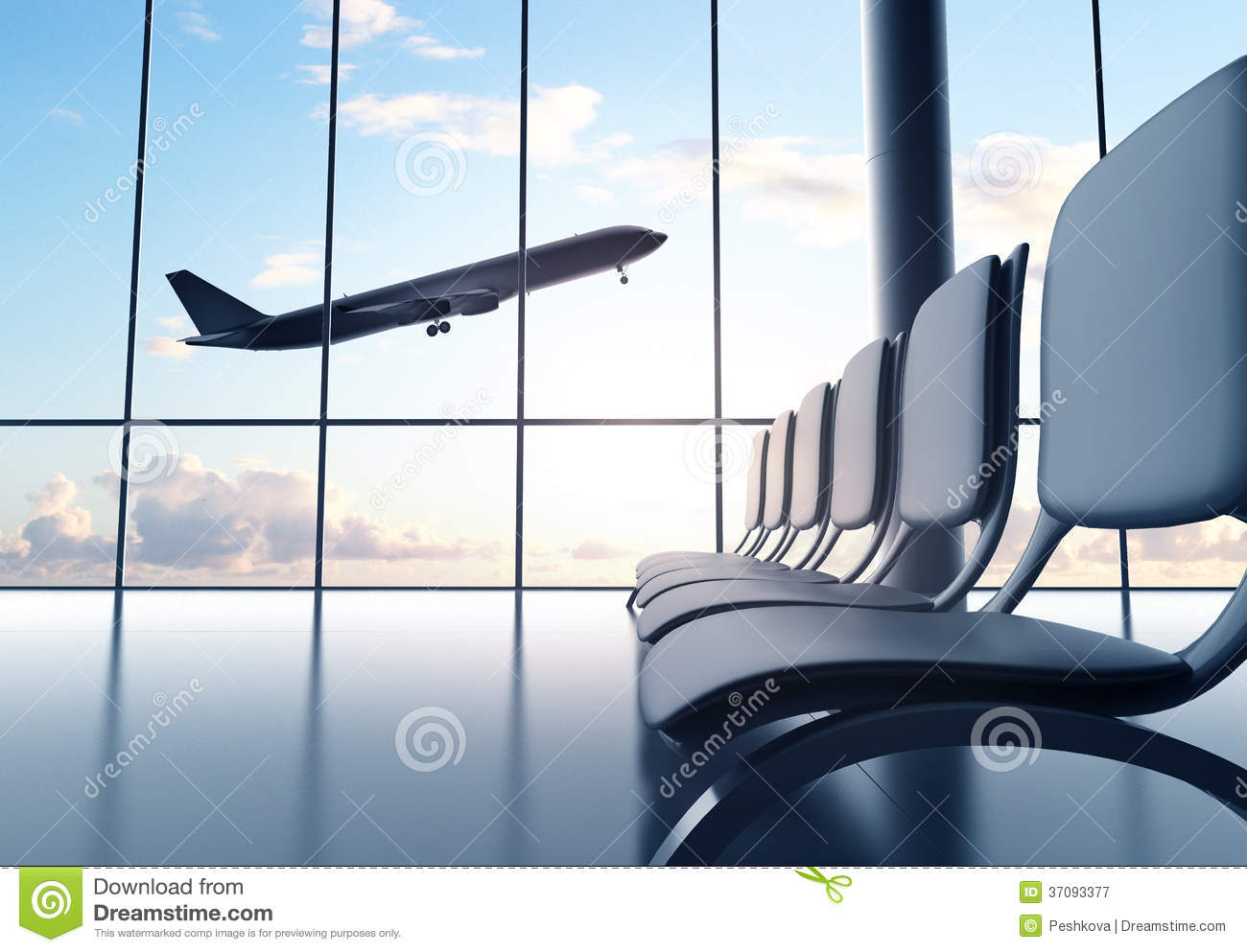 Futuristic Airport Royalty Free Stock Photography Image