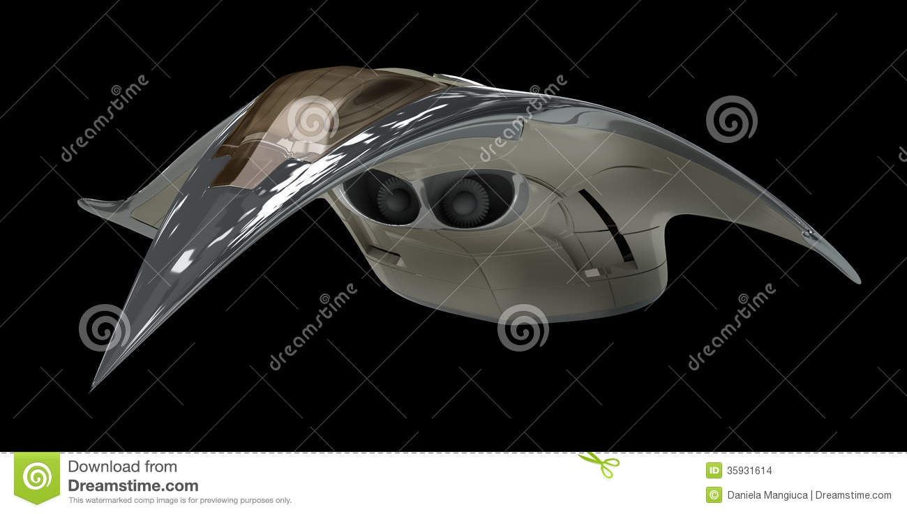 Futuristic Alien 3D Military Spaceship Stock Images - Image: 35931614