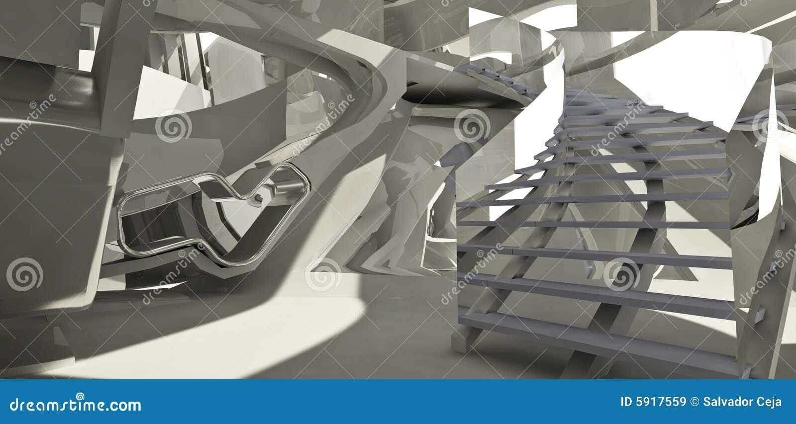 Futuristic architecture interi