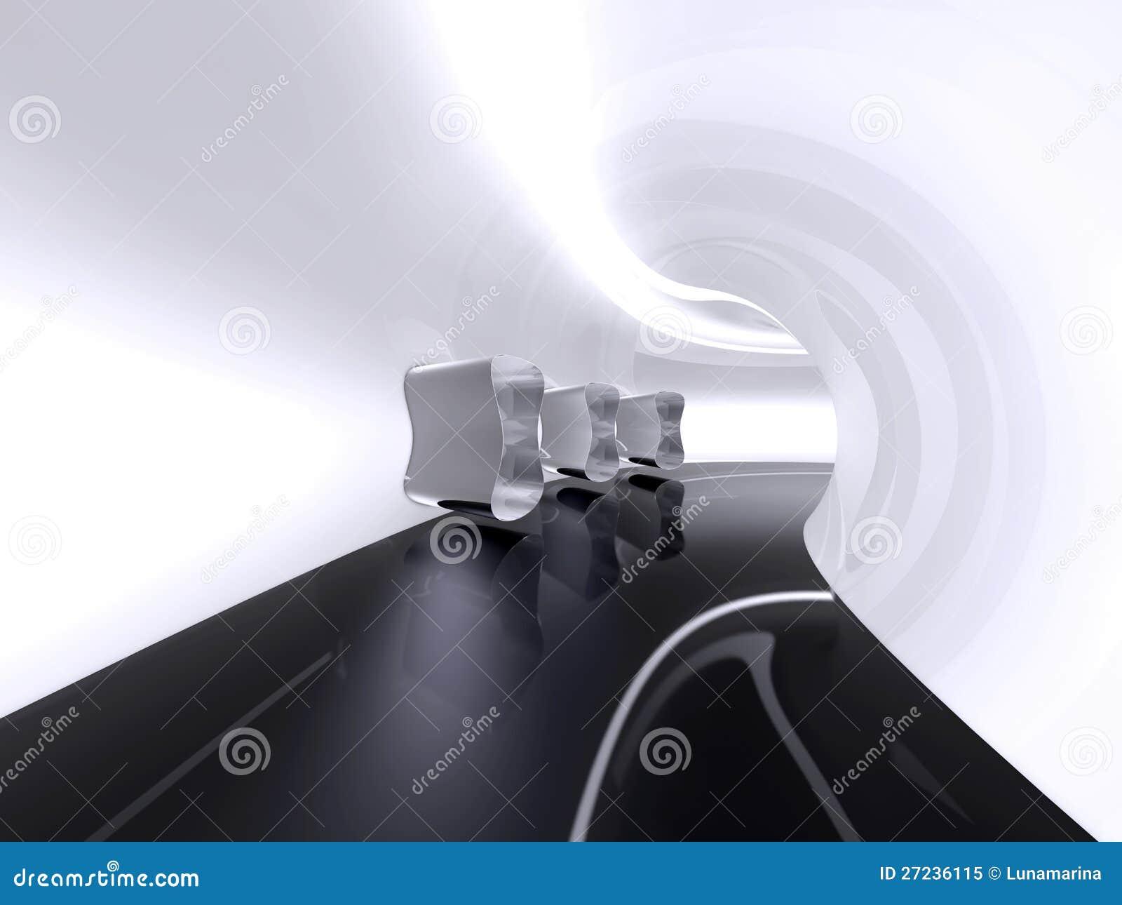 futuristic architecture space corridor indoor royalty free stock