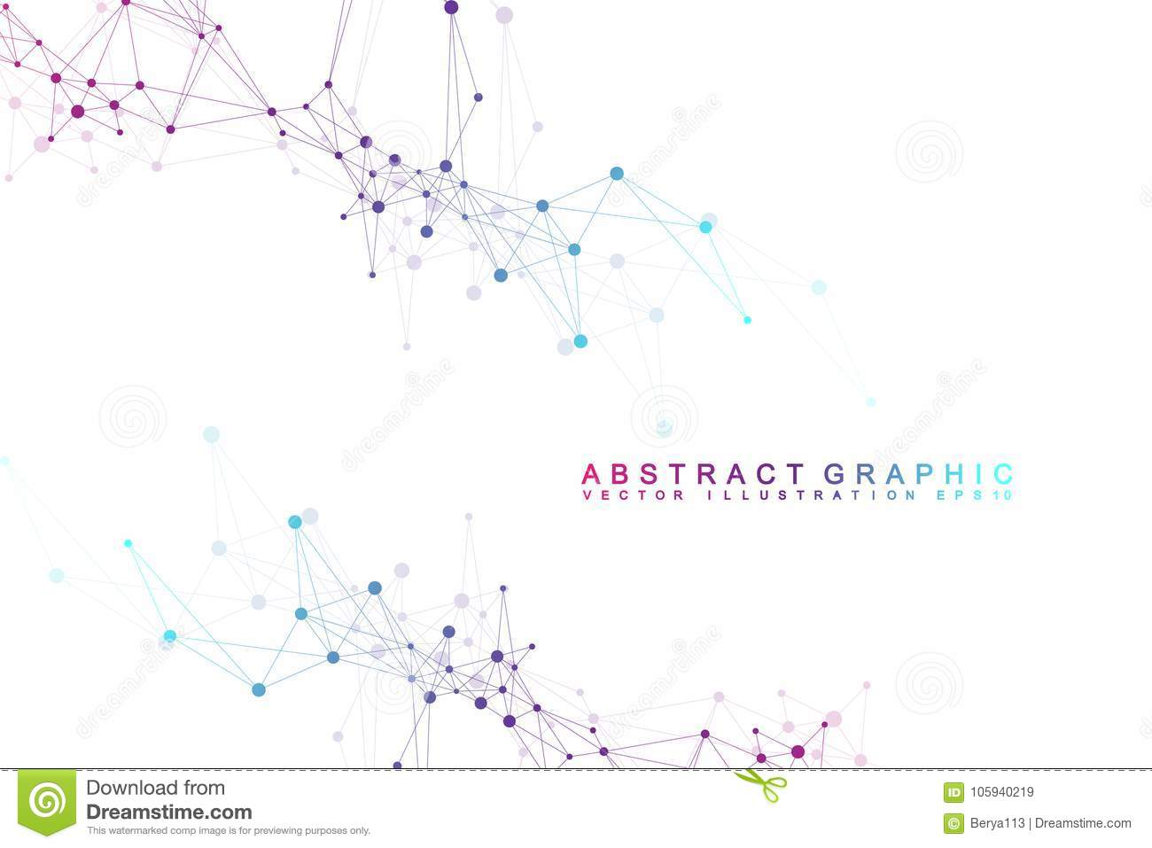 Futuristic background communication, globalization. Lines and dots connected to Science fiction scene. Modern vector