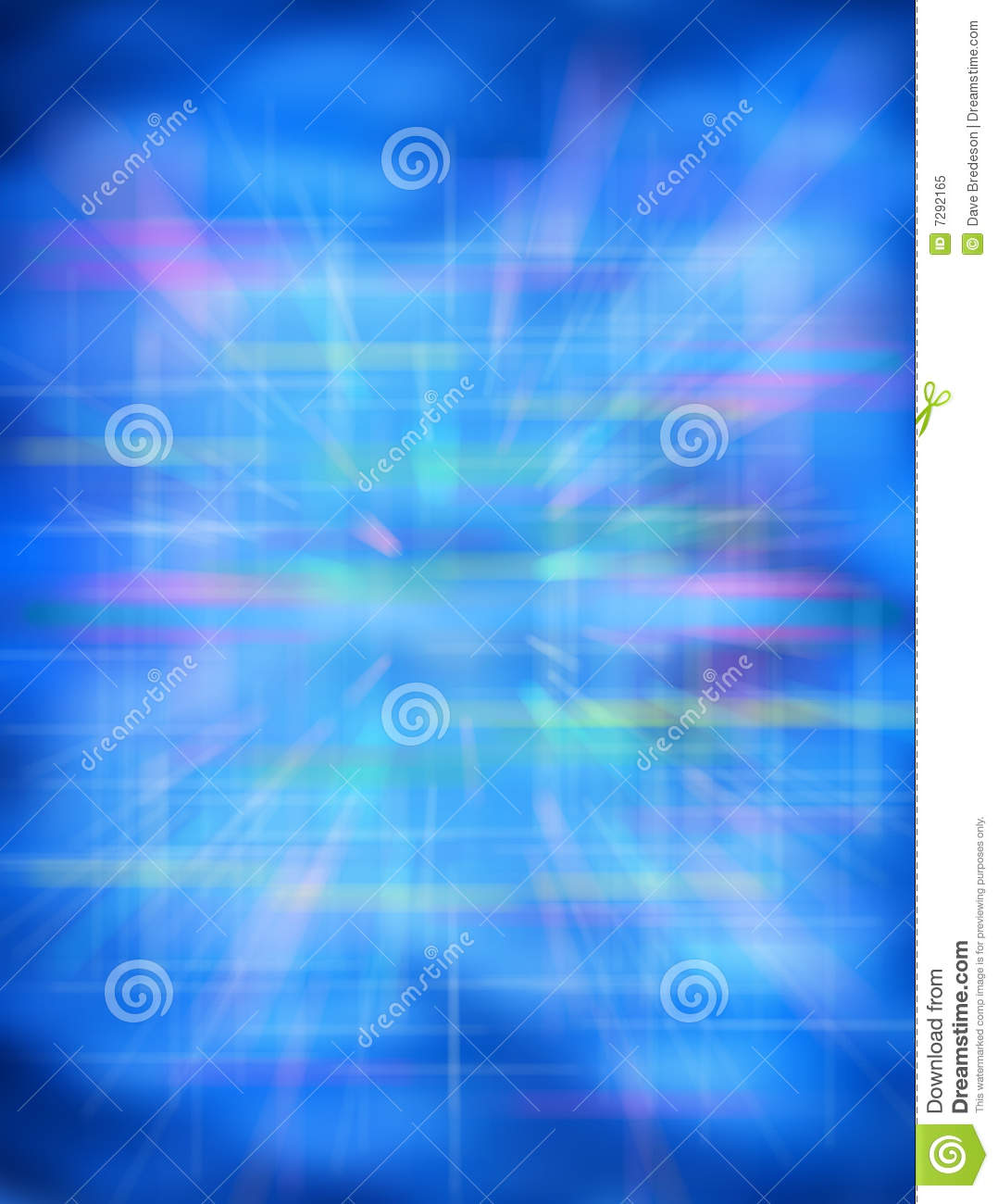 Futuristic Blue Abstract Background