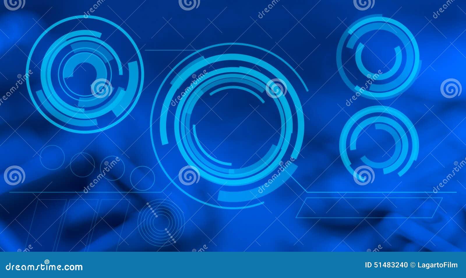 Futuristic Blue Wallpaper Abstract Design Stock Photo