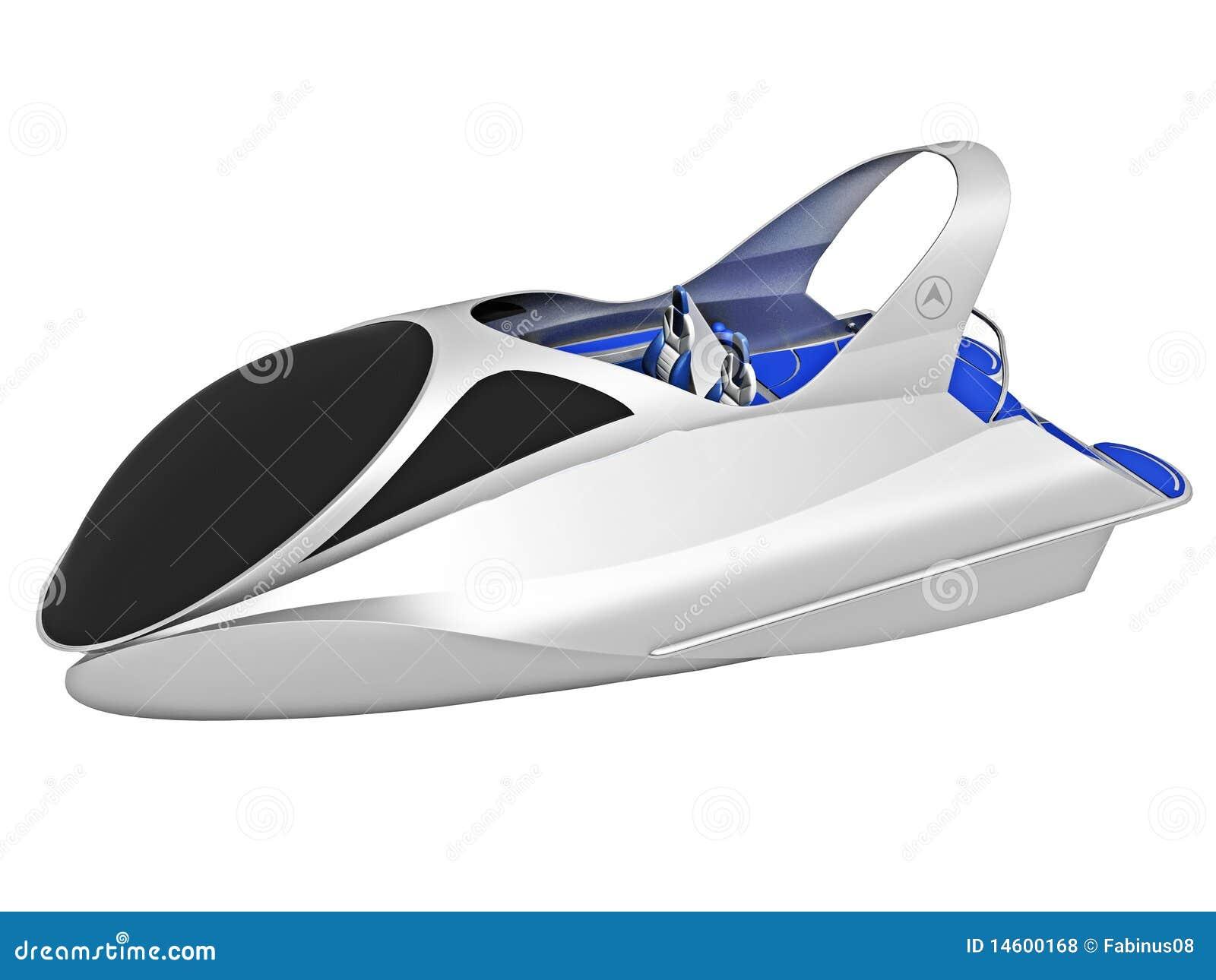 Royalty Free Stock Photos: Futuristic Boat Illustration. Image ...