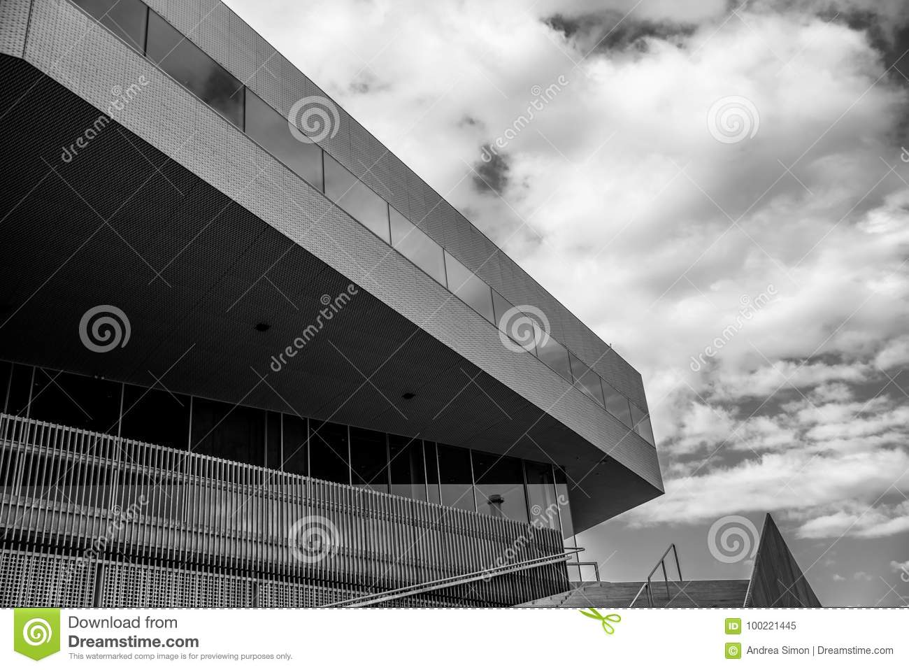 Futuristic Building Stock Image Image Of Downtown Mediaspace