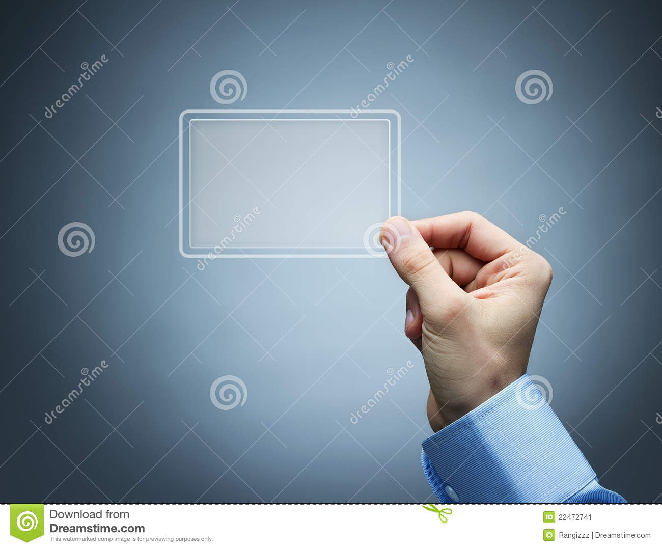 Futuristic Business Card With Copy Space Stock Image Image Of Hand