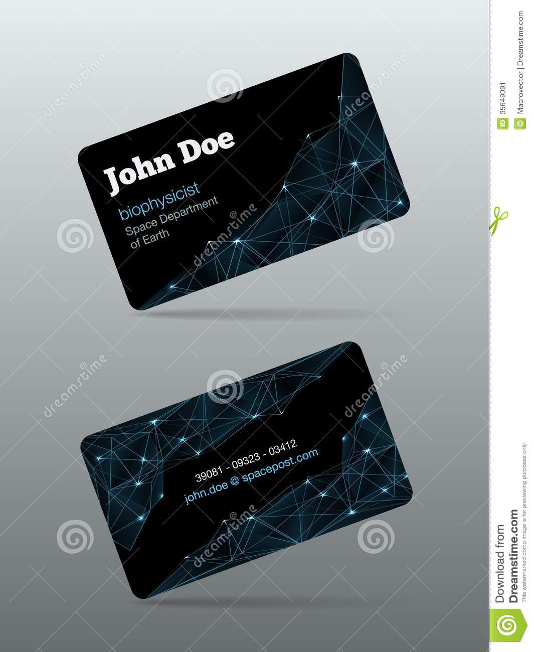 futuristic business card stock vector image of backdrop