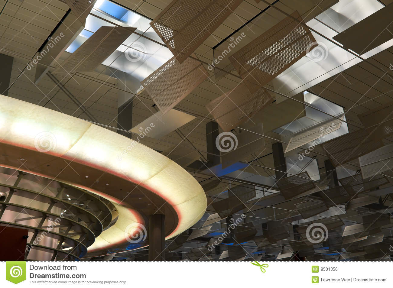 Futuristic Ceiling Royalty Free Stock Image - Image: 8501356