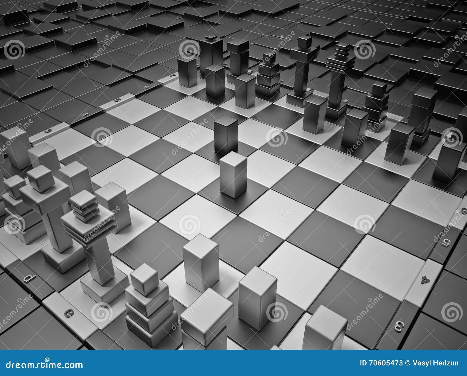 futuristic chess board stock illustration image 70605473