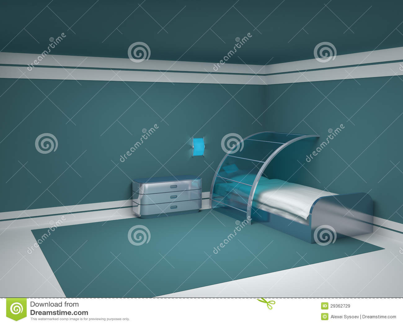 futuristic bedroom stock photo - image: 14984700