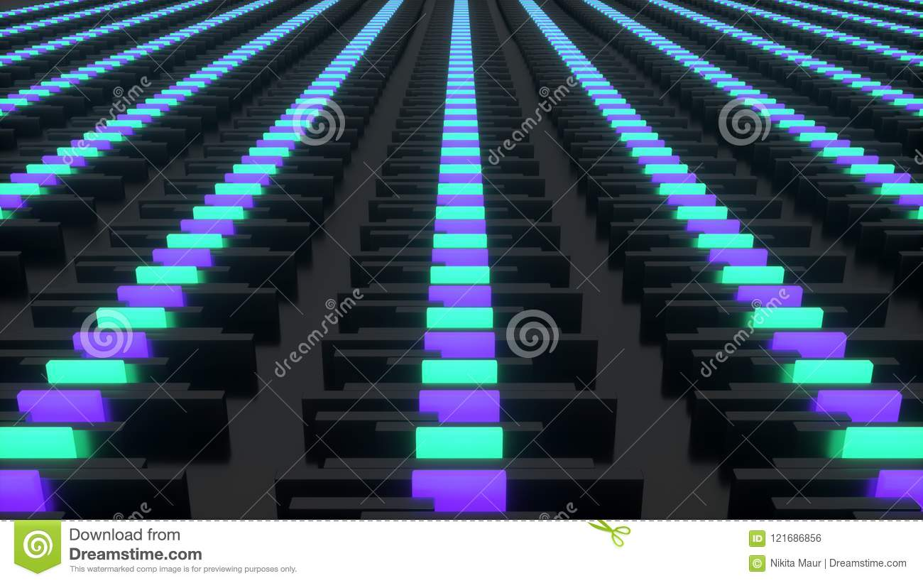 Futuristic Circuit Board Stock Illustration Of City Series 3d Animated Model Parallel Rendering The Abstract