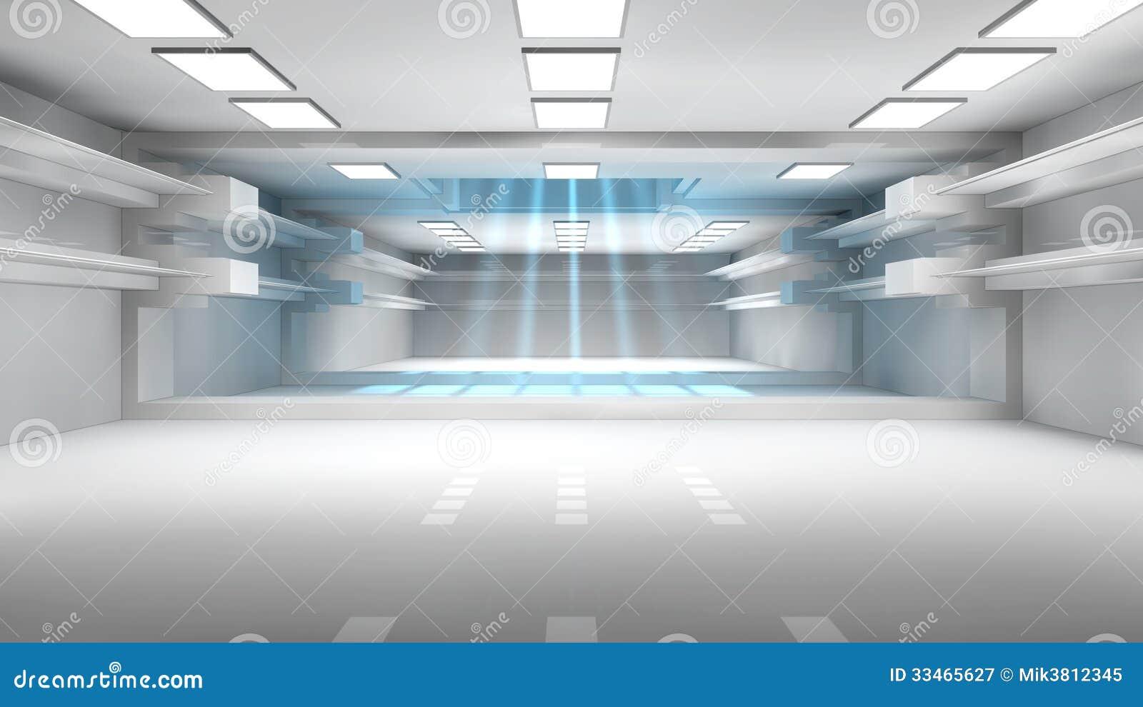 Futuristic Corridor Royalty Free Stock Photography Image