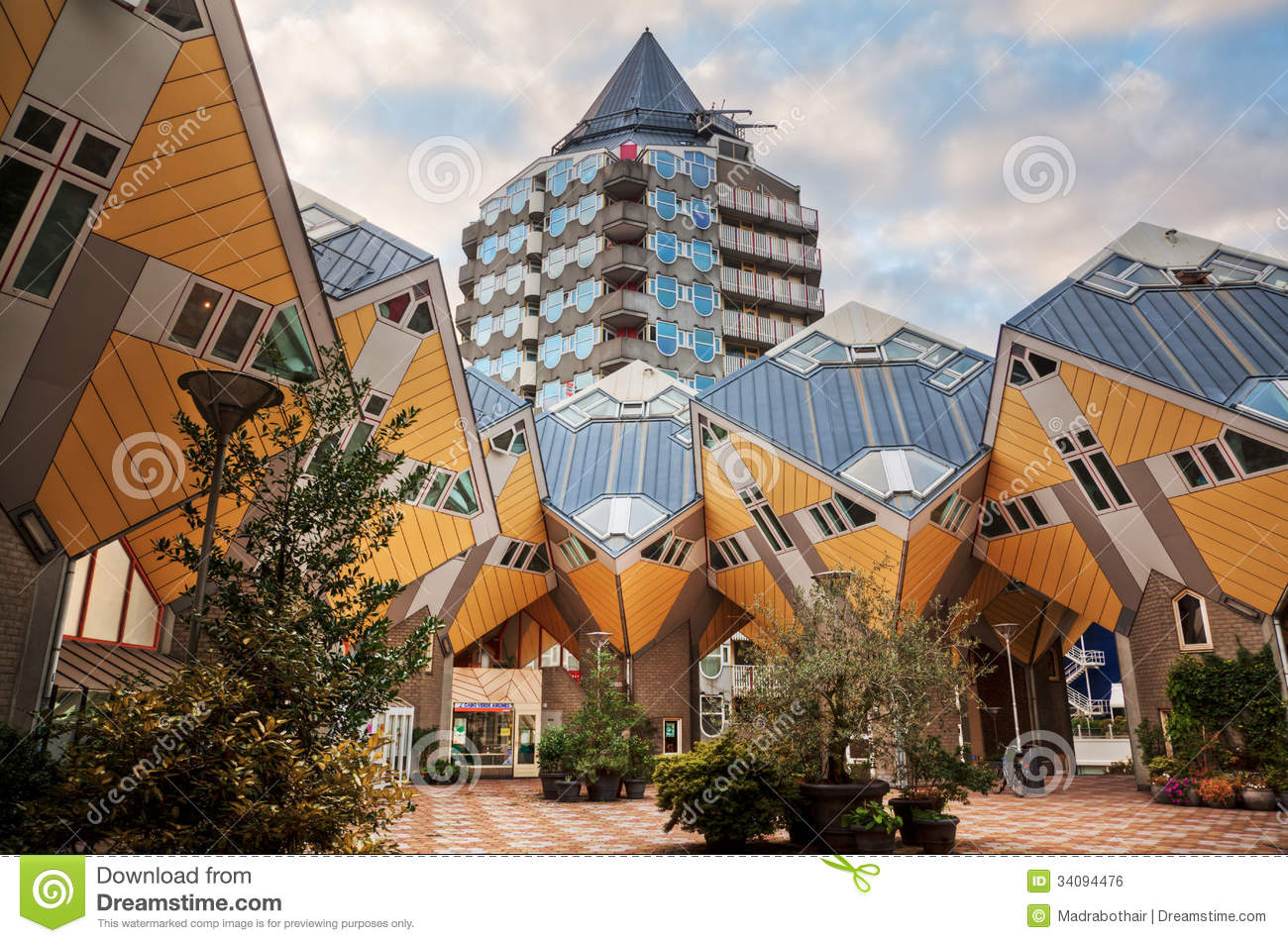 Futuristic cubic houses in rotterdam stock photo image 34094476 - The cubic home ...