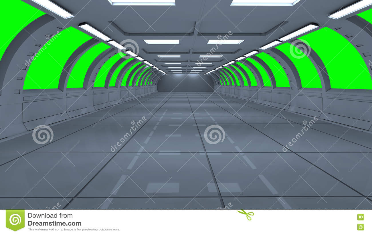 Futuristic 3d green screen stock illustration  Illustration of