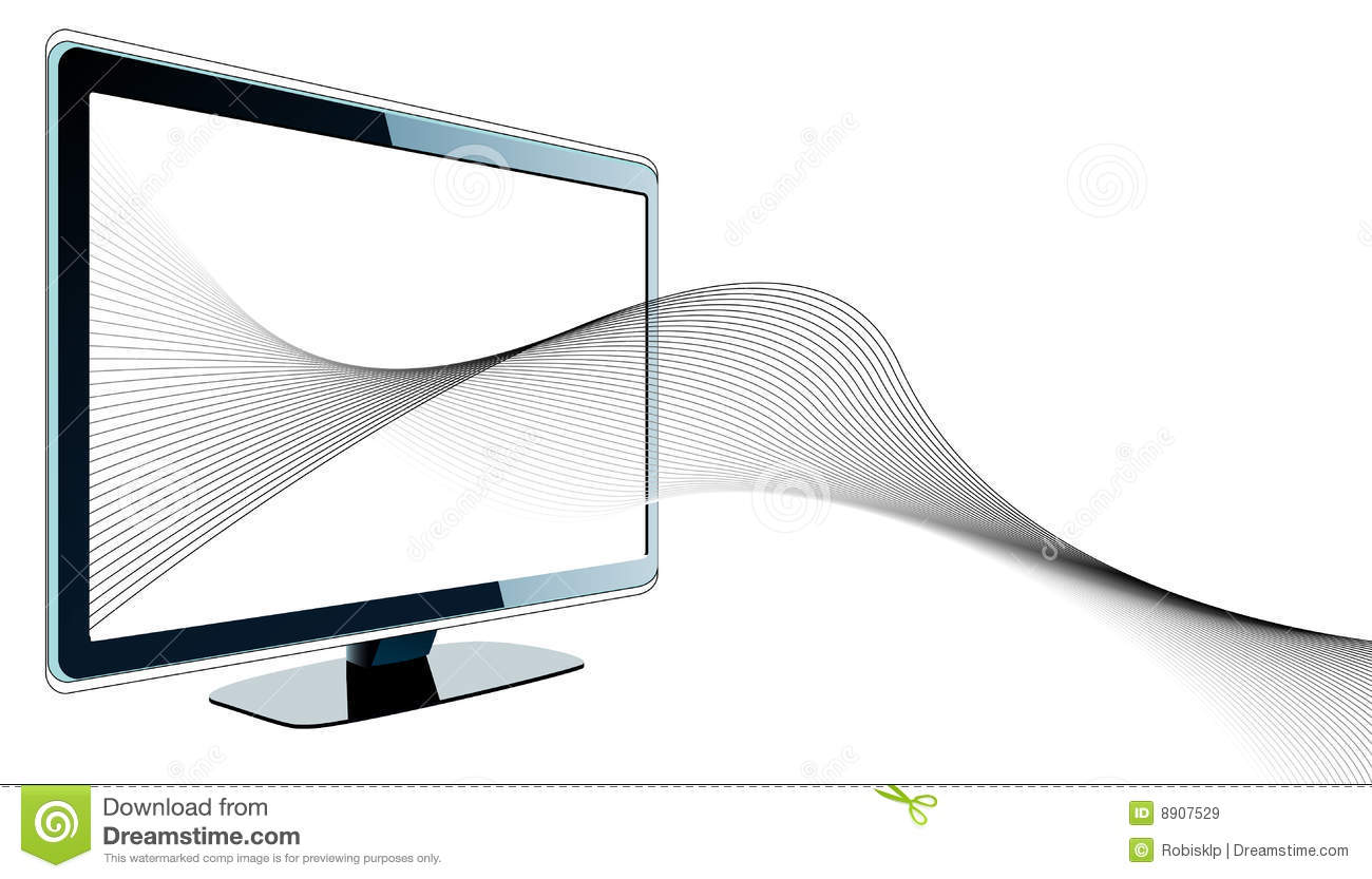 futuristic design tv wavy lines 8907529 futuristic design with tv and wavy lines royalty free stock images  at gsmportal.co