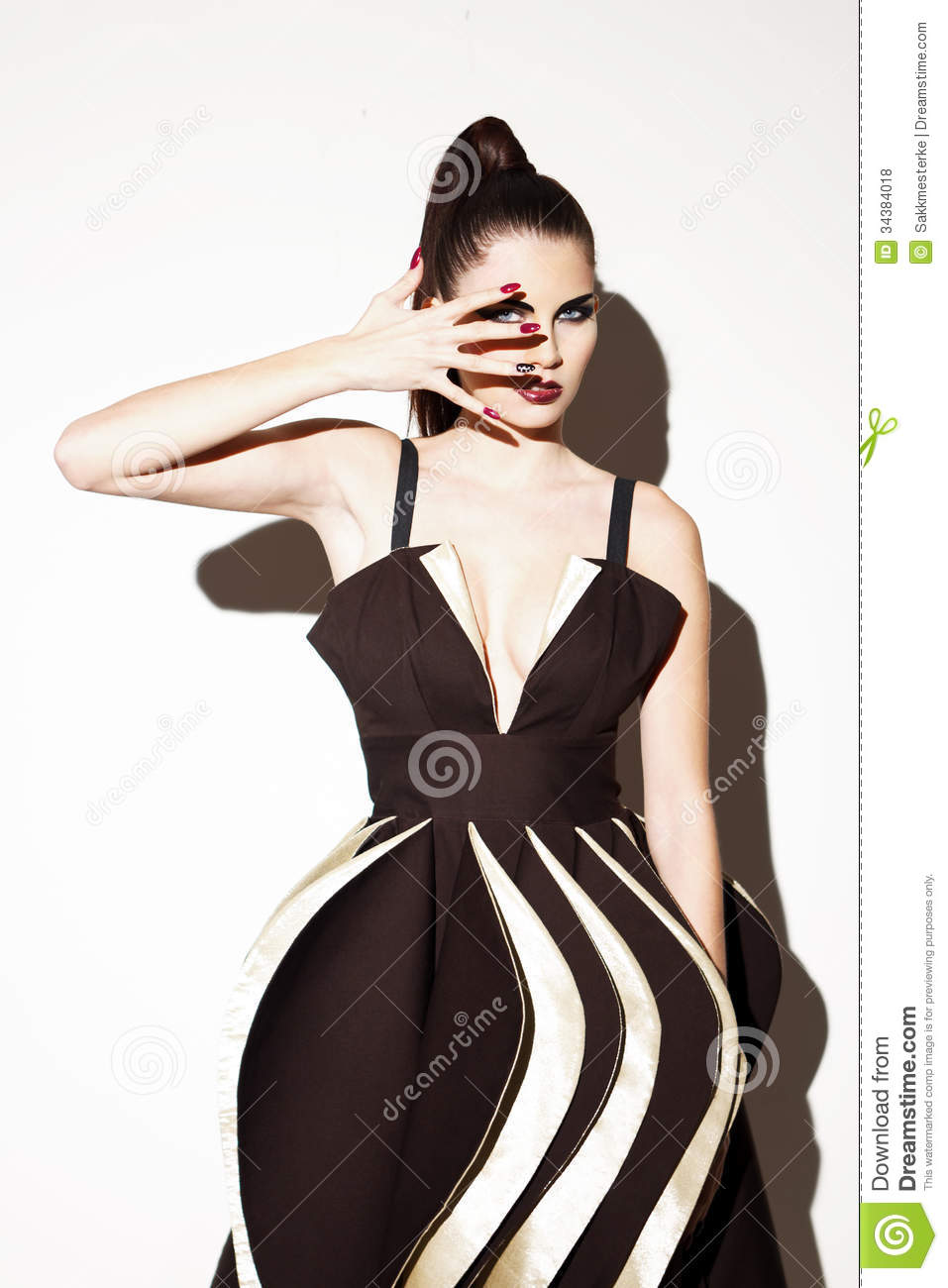 Futuristic Fashion Model Royalty Free Stock Photos