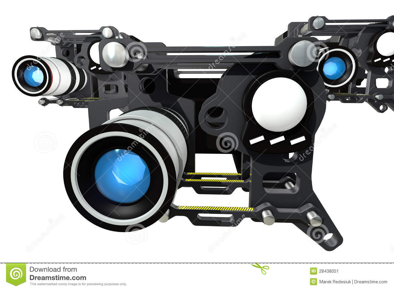 The Futuristic Film Camera Stock Illustration Of Lens