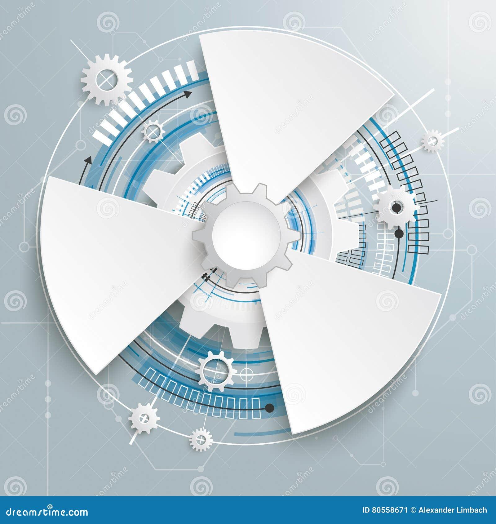 Futuristic Gear Construction Circuit Board 3 Options Stock Vector ...