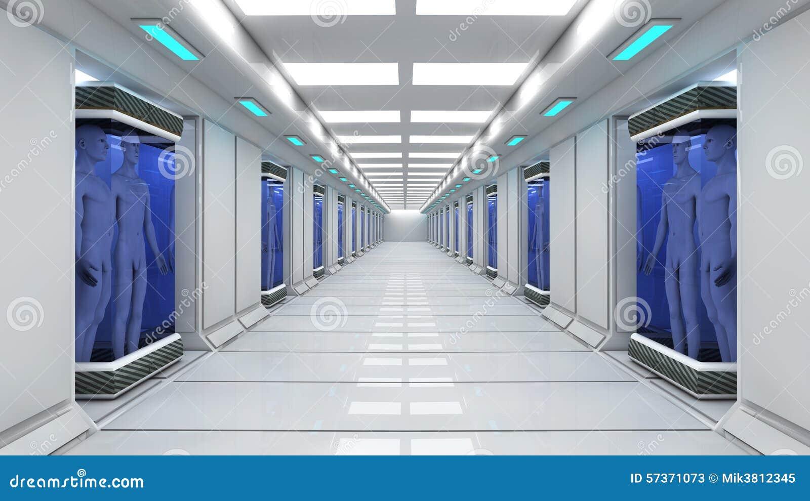 Futuristic Interior Architecture Stock Illustration ...