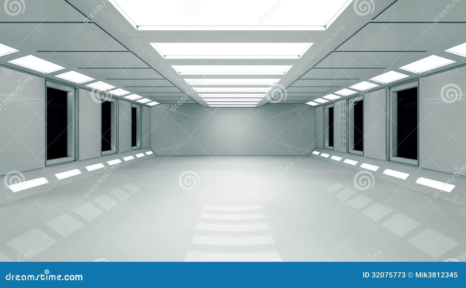 Futuristic Interior Stock Photos - Image: 32075773