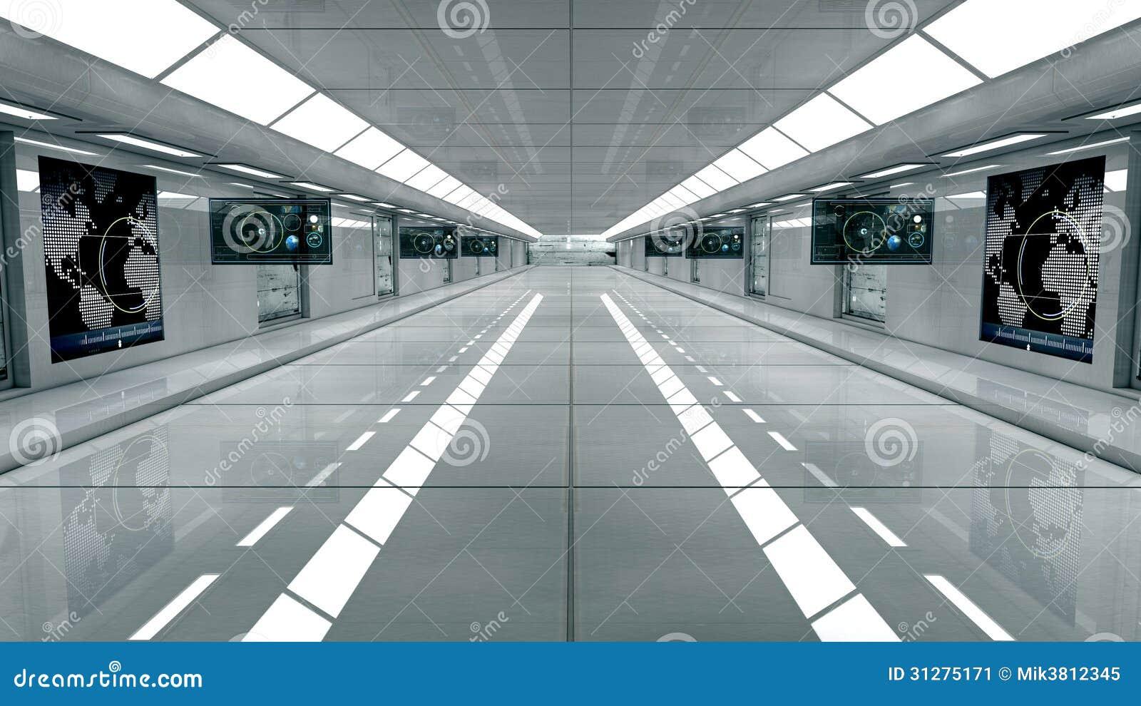 Futuristic interior stock illustration image of for Architecture interieur 3d