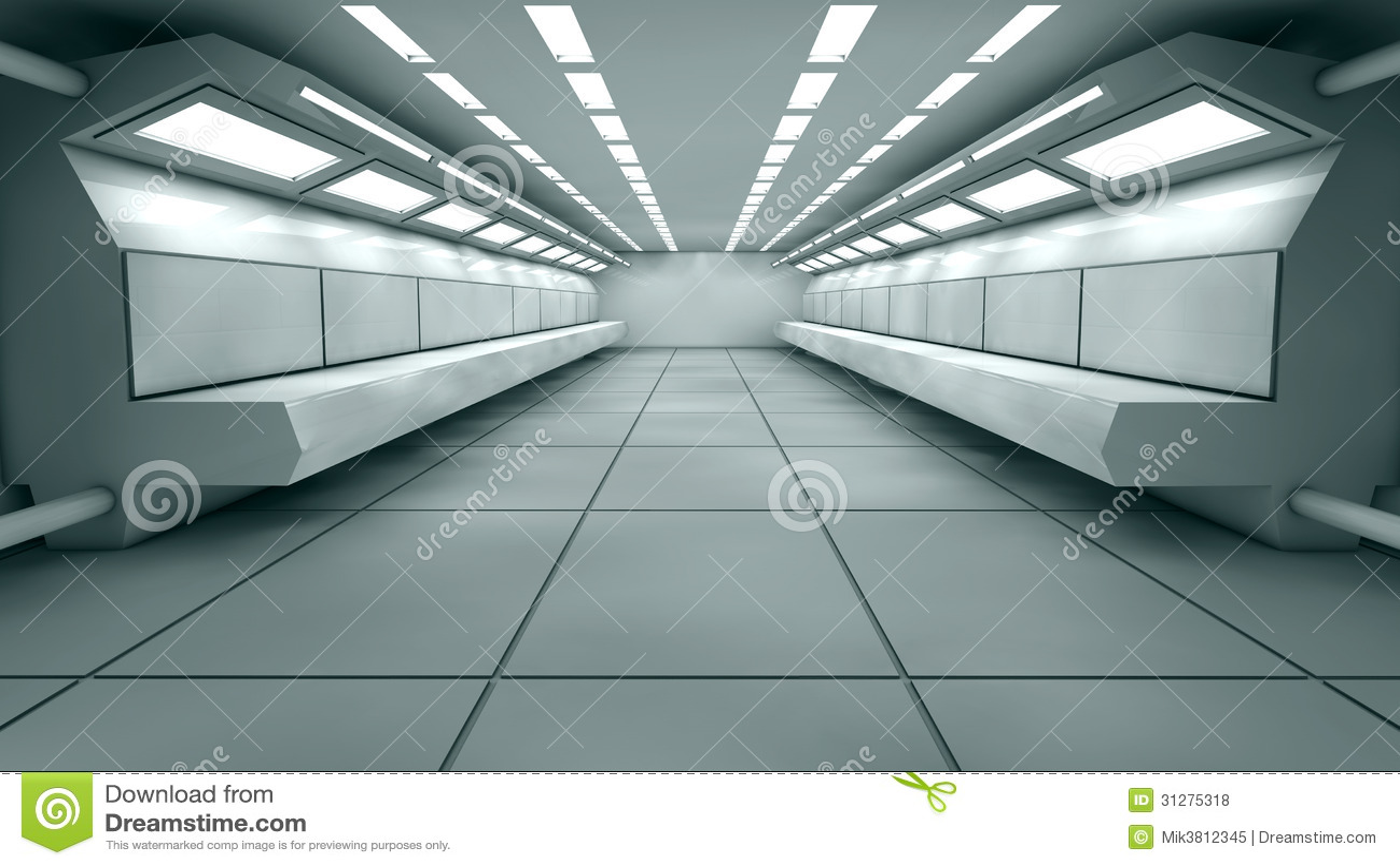 Futuristic Interior Royalty Free Stock Photos Image