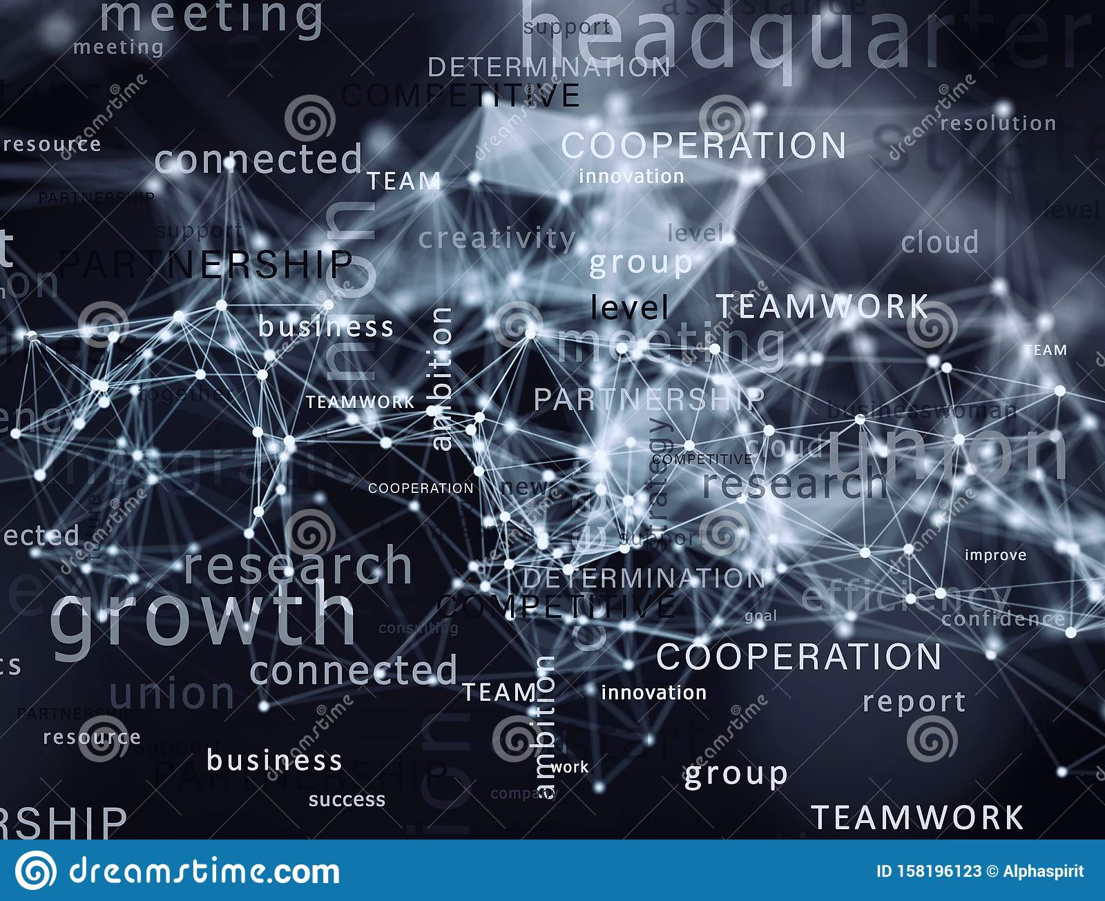 Internet network background with most important business terms