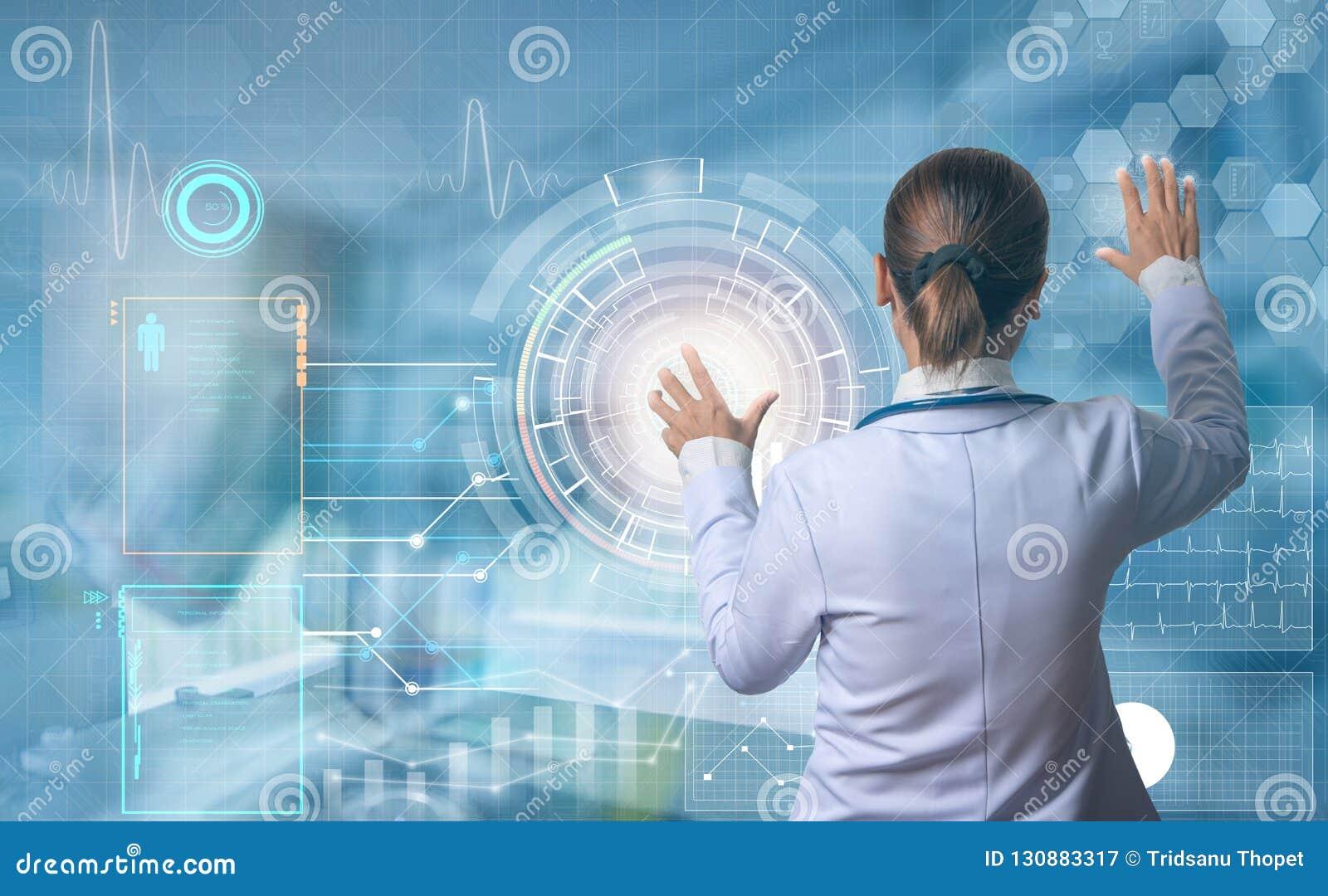 Futuristic medical concept