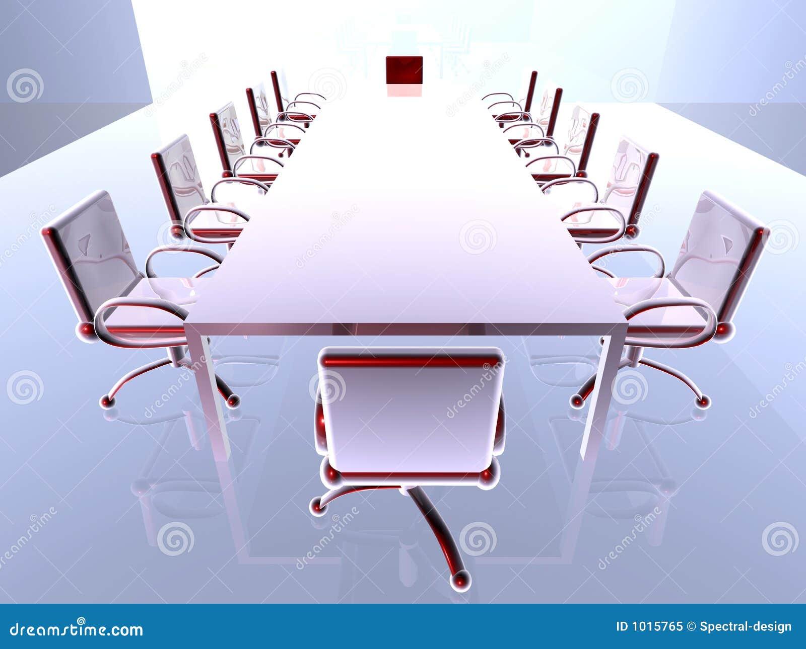 Futuristic Meeting Room 1 Stock Illustration Image Of