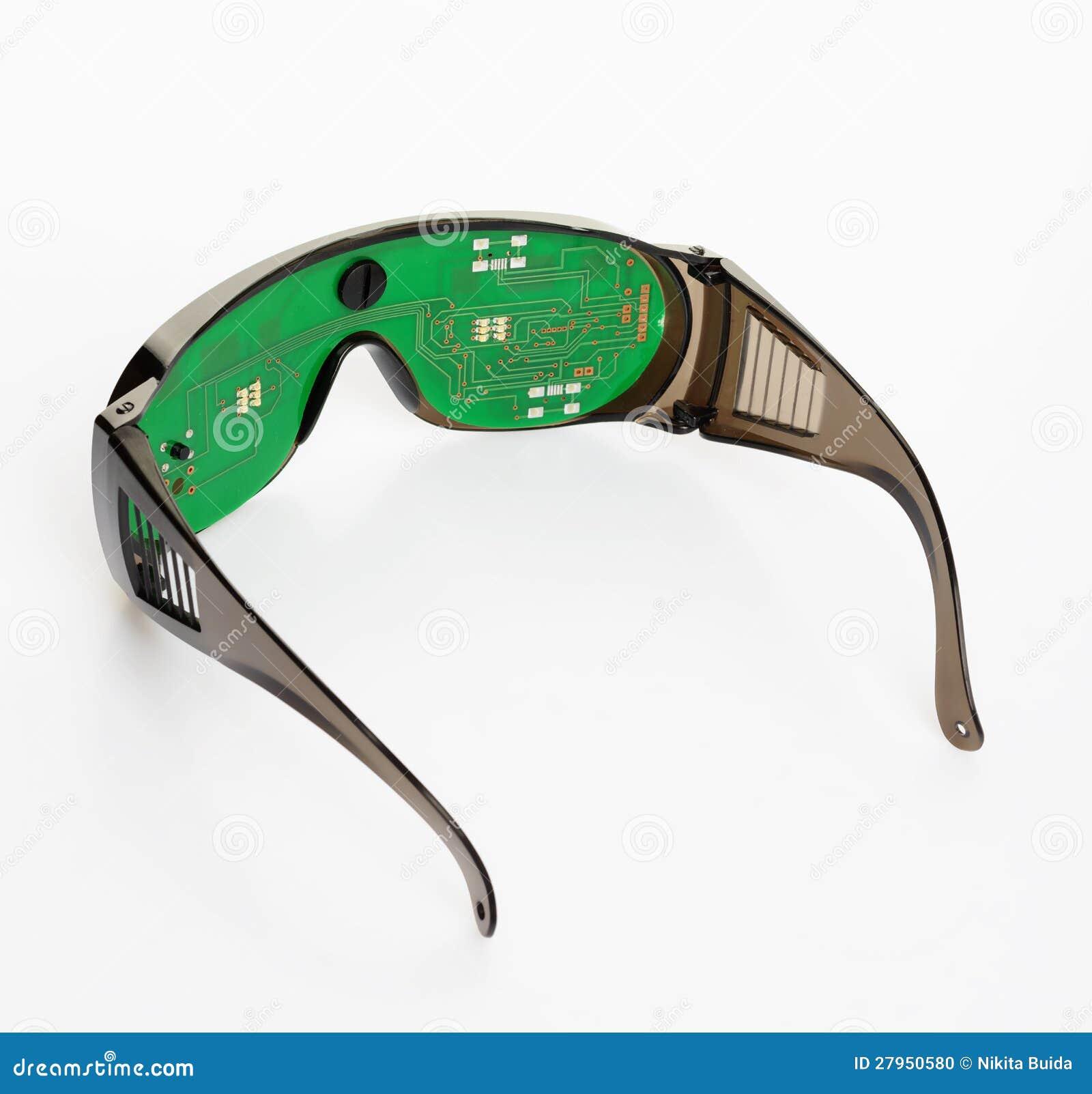 Futuristic Microchip Goggles Stock Photo Image 27950580