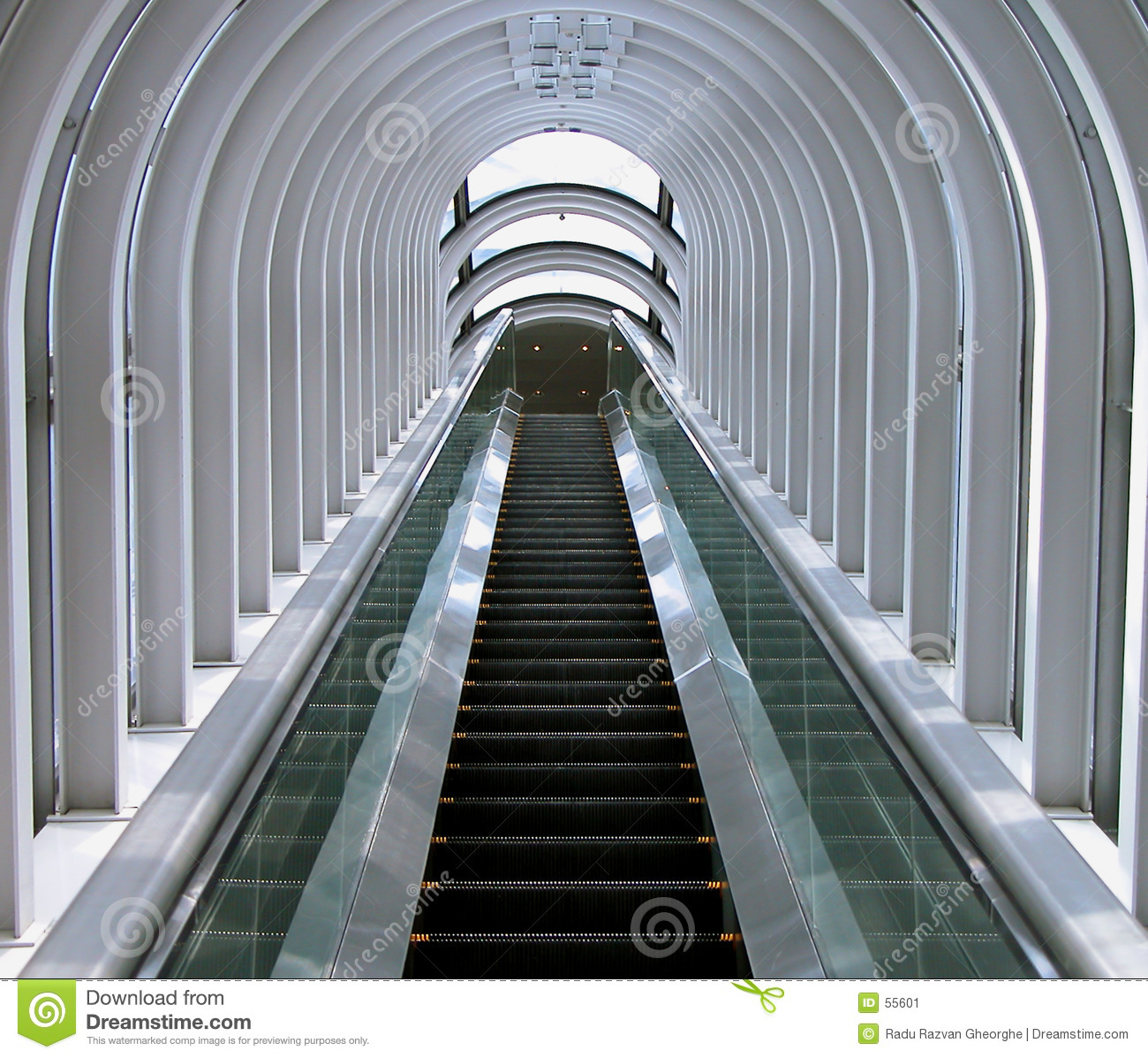 Futuristic Moving Staircase Stock Image