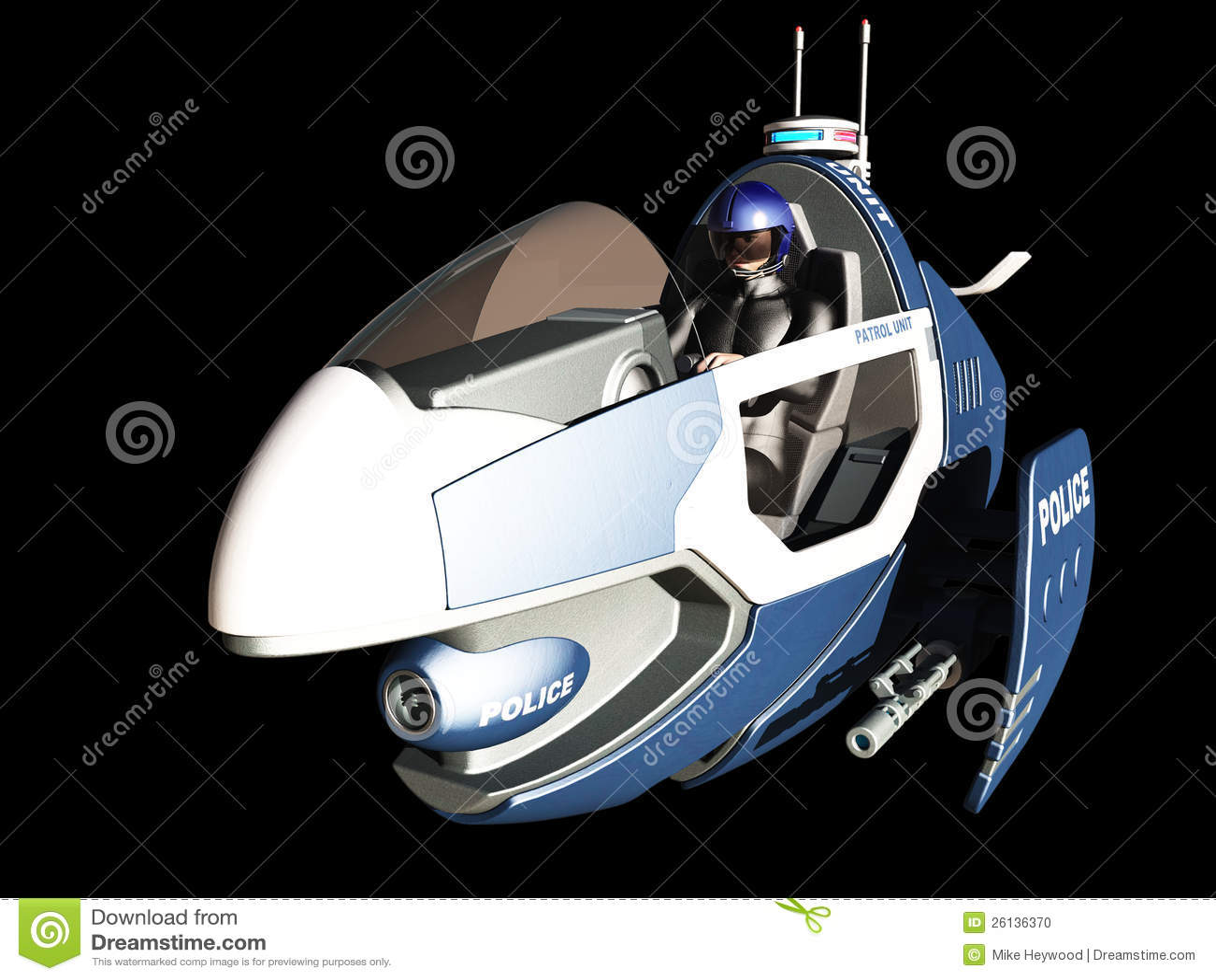 futuristic police patrol vehicle stock photo image 26136370