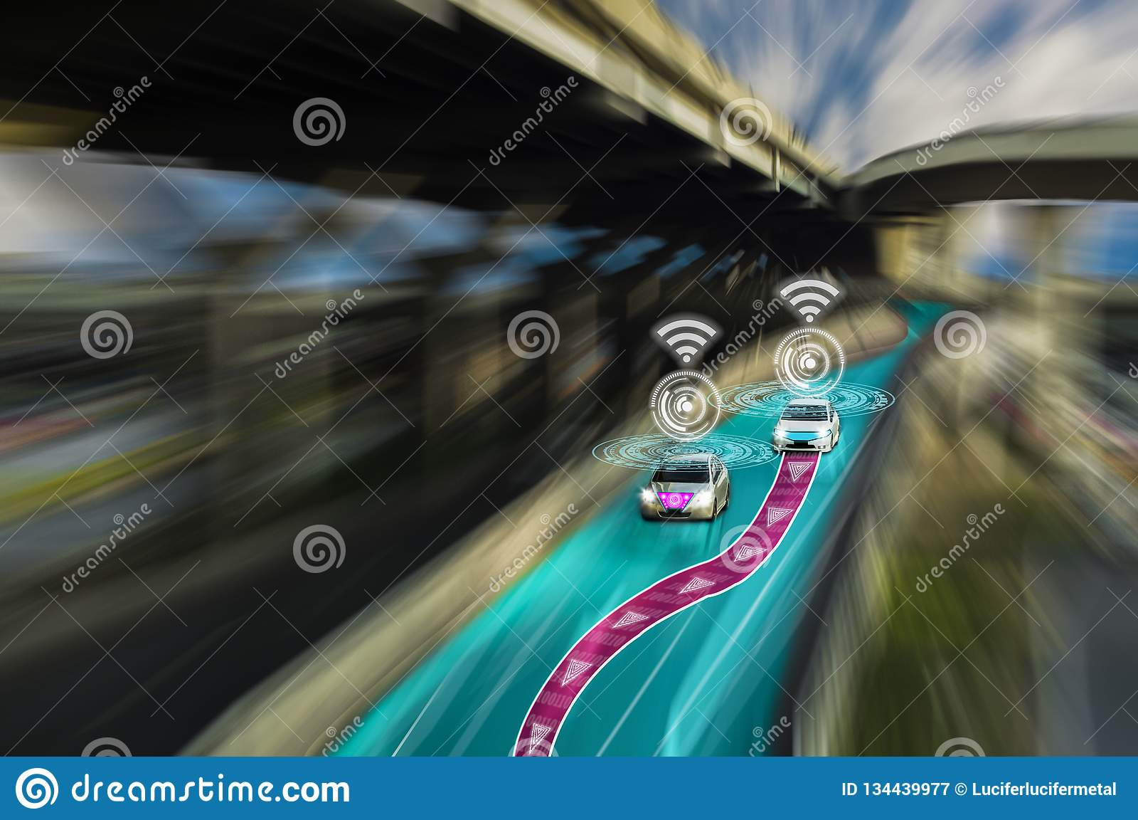 Futuristic Road Of Genius For Intelligent Self Driving Cars