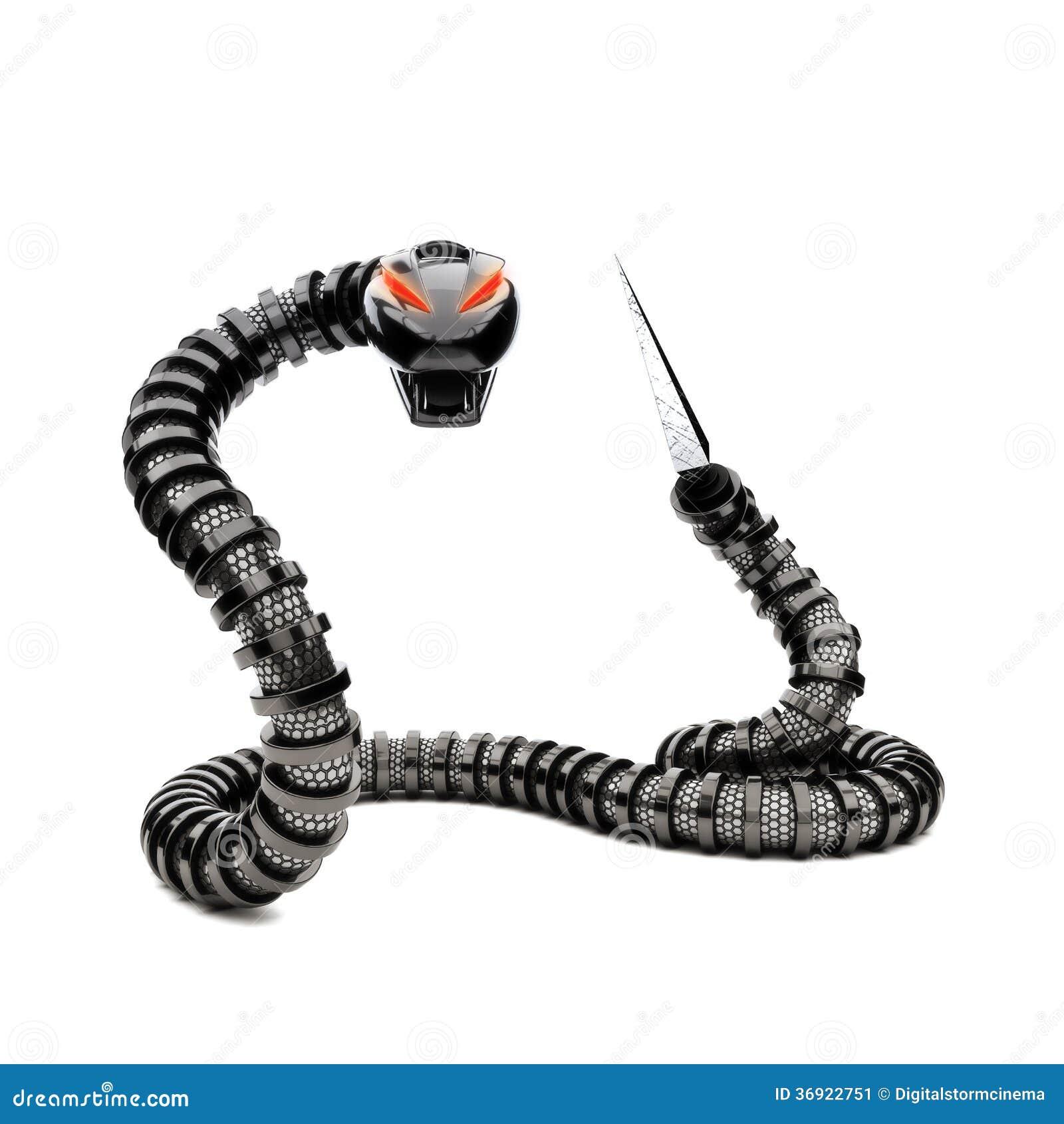Futuristic Robot Snake Stock Image Image 36922751