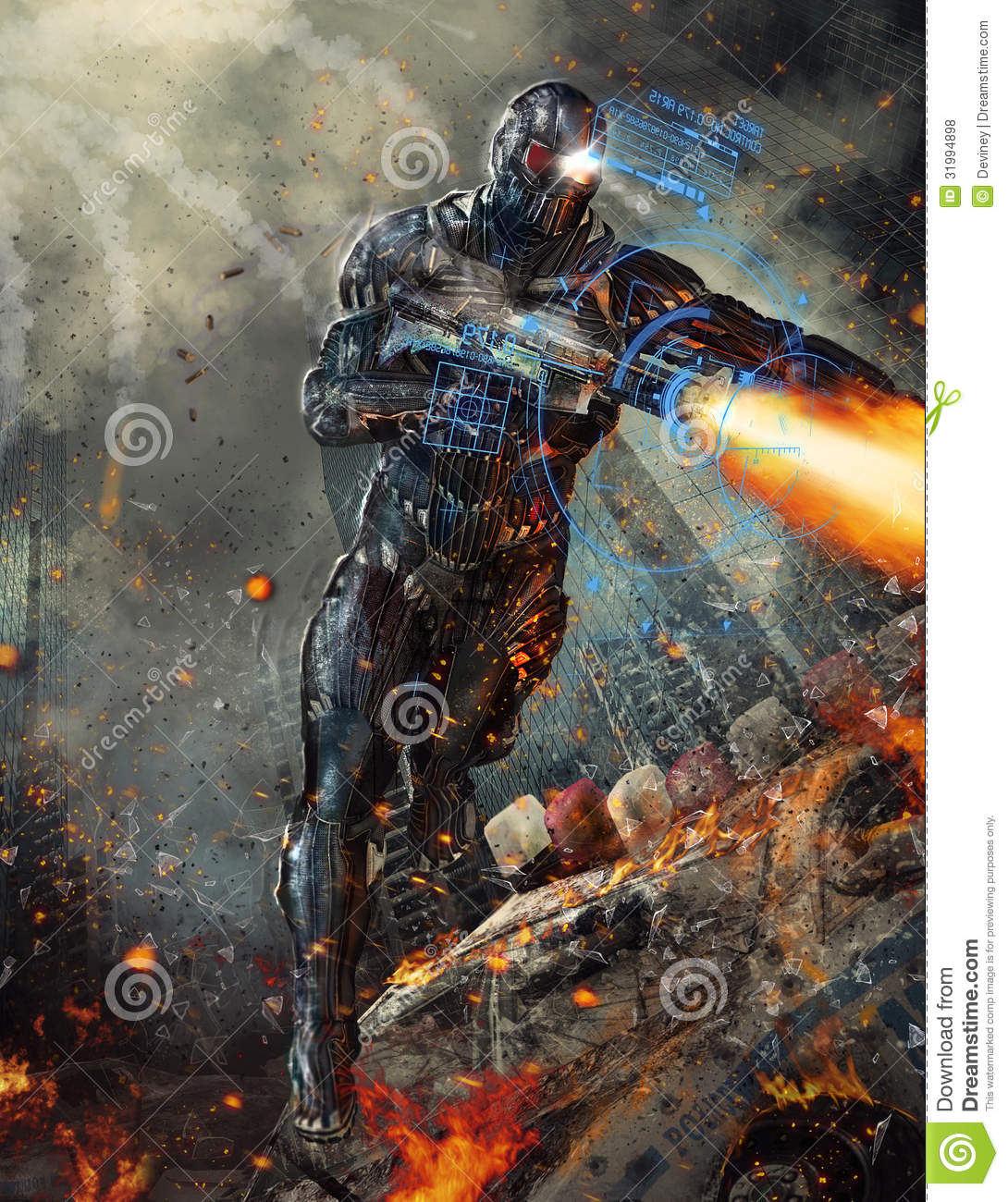 Futuristic Robot Soldier Royalty Free Stock Photos - Image ... Futuristic Robot Soldier