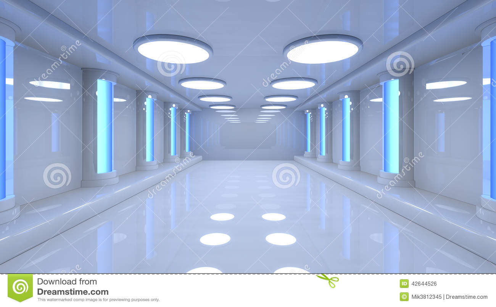 futuristic room stock illustration