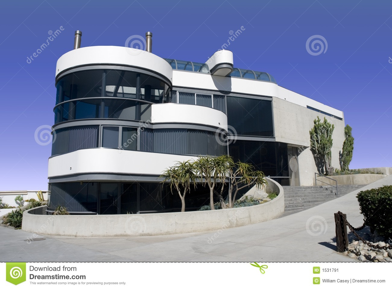 Futuristic Round White House Stock Image Image Of