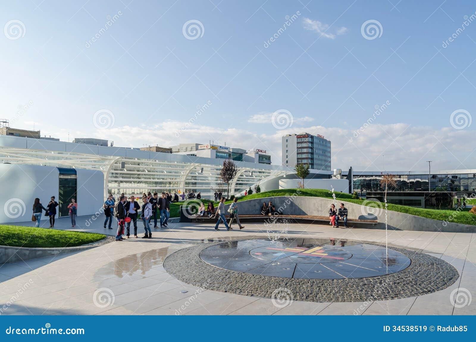 Futuristic shopping mall exterior promenade editorial for Shopping mall exterior design