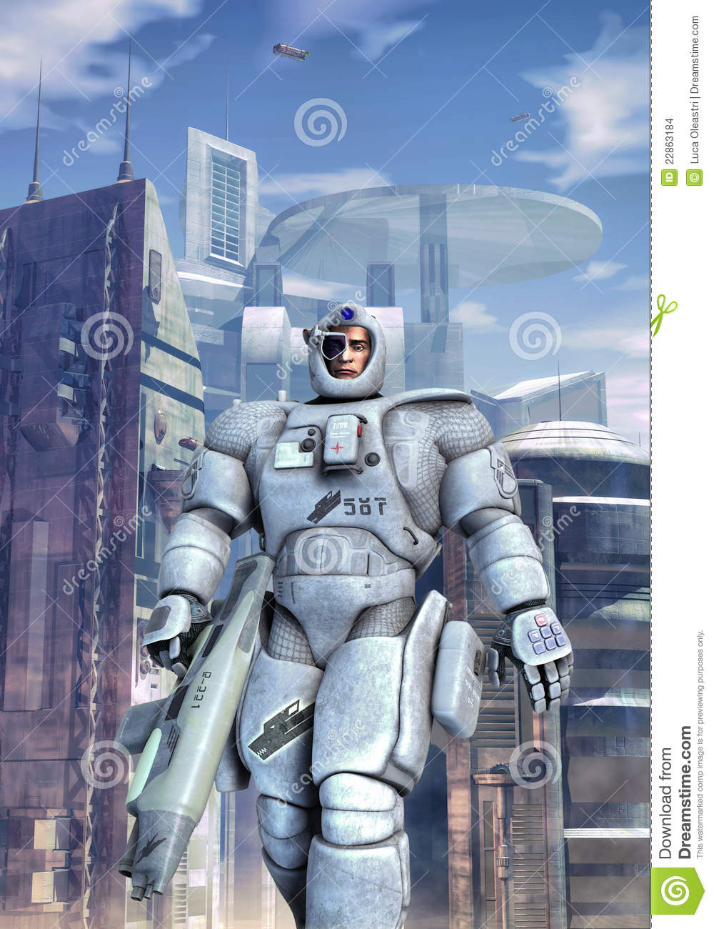 Futuristic soldier space infantry