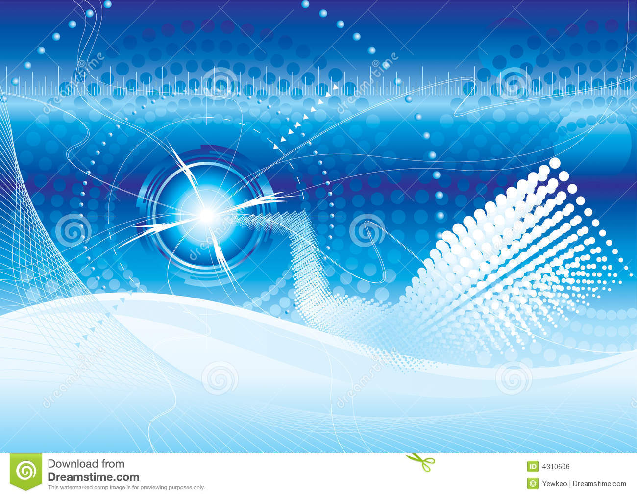 Futuristic Technology Background Stock Vector ...