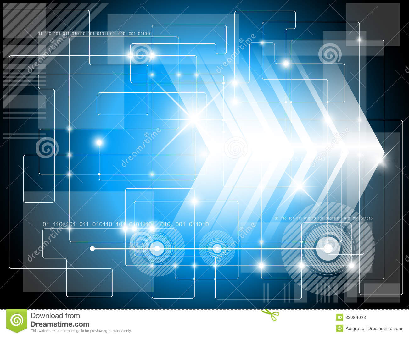 Futuristic Technology Background Stock Illustration ...