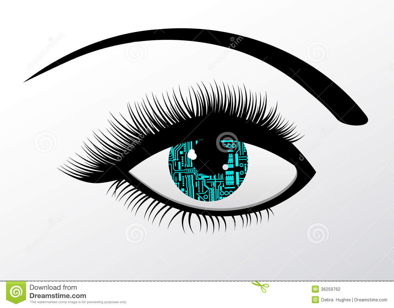 futuristic technology computerized eye stock vector