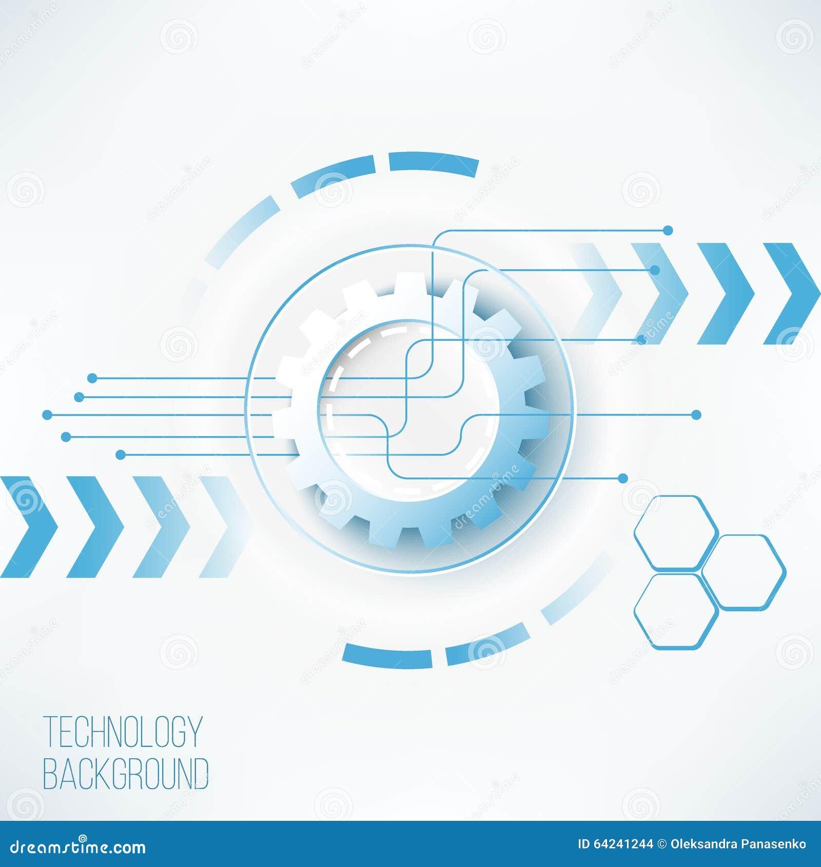 Futuristic technology gear concept
