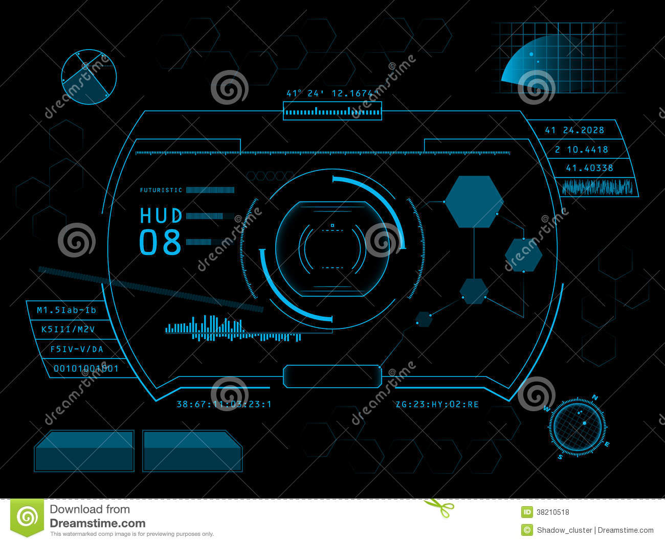 Futuristic User Interface HUD Royalty Free Stock Photos ...