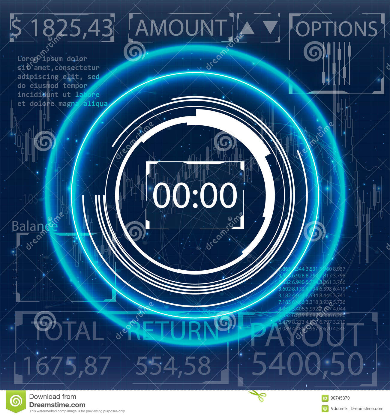 Futuristic user interface for trading applications stock vector futuristic user interface for trading applications design concept biocorpaavc Image collections