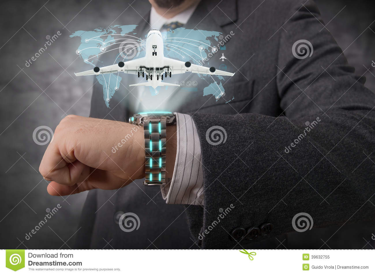 Futuristic Watch Stock Photo