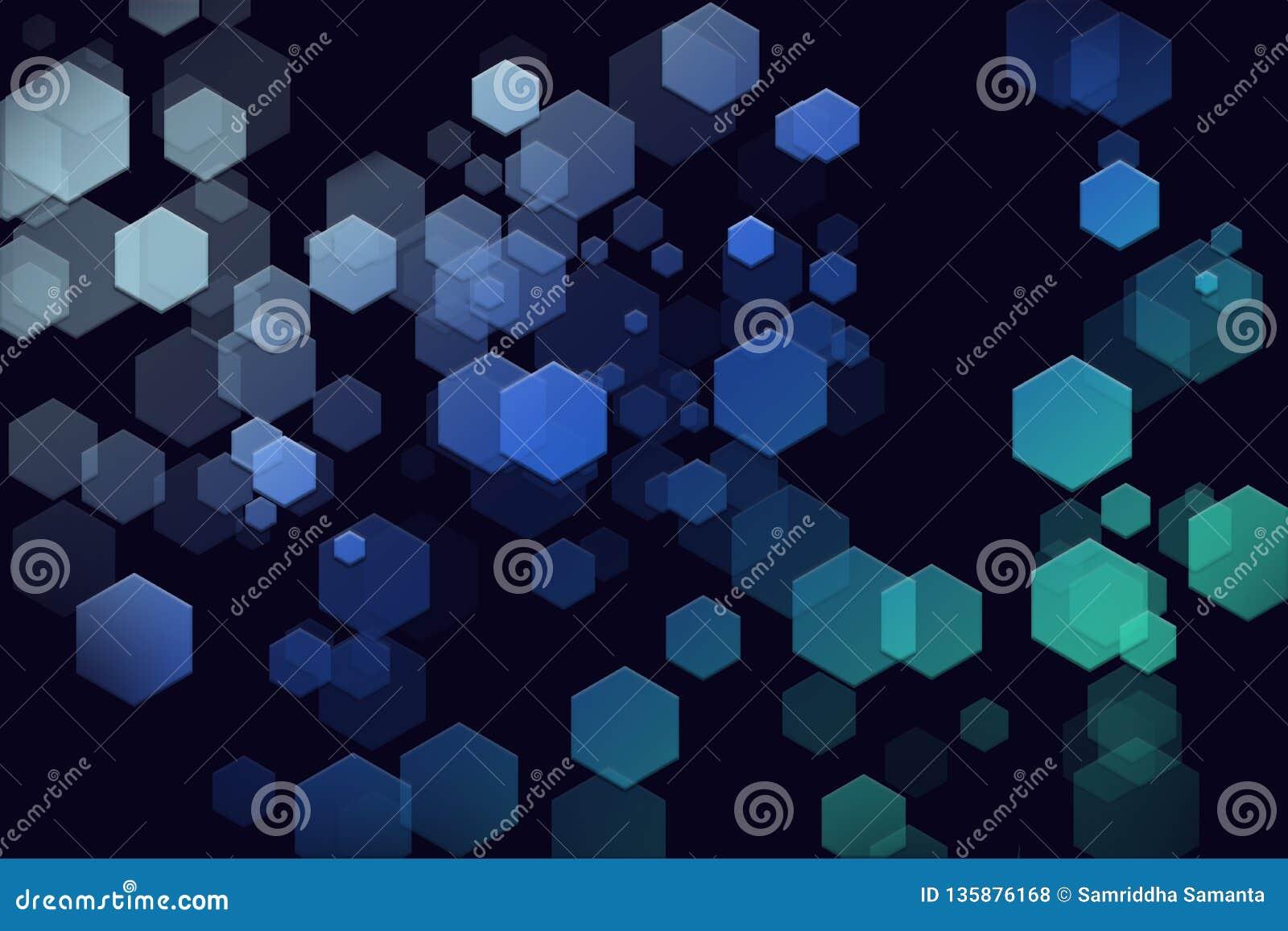 Futuristisch Hexagon behang als achtergrond
