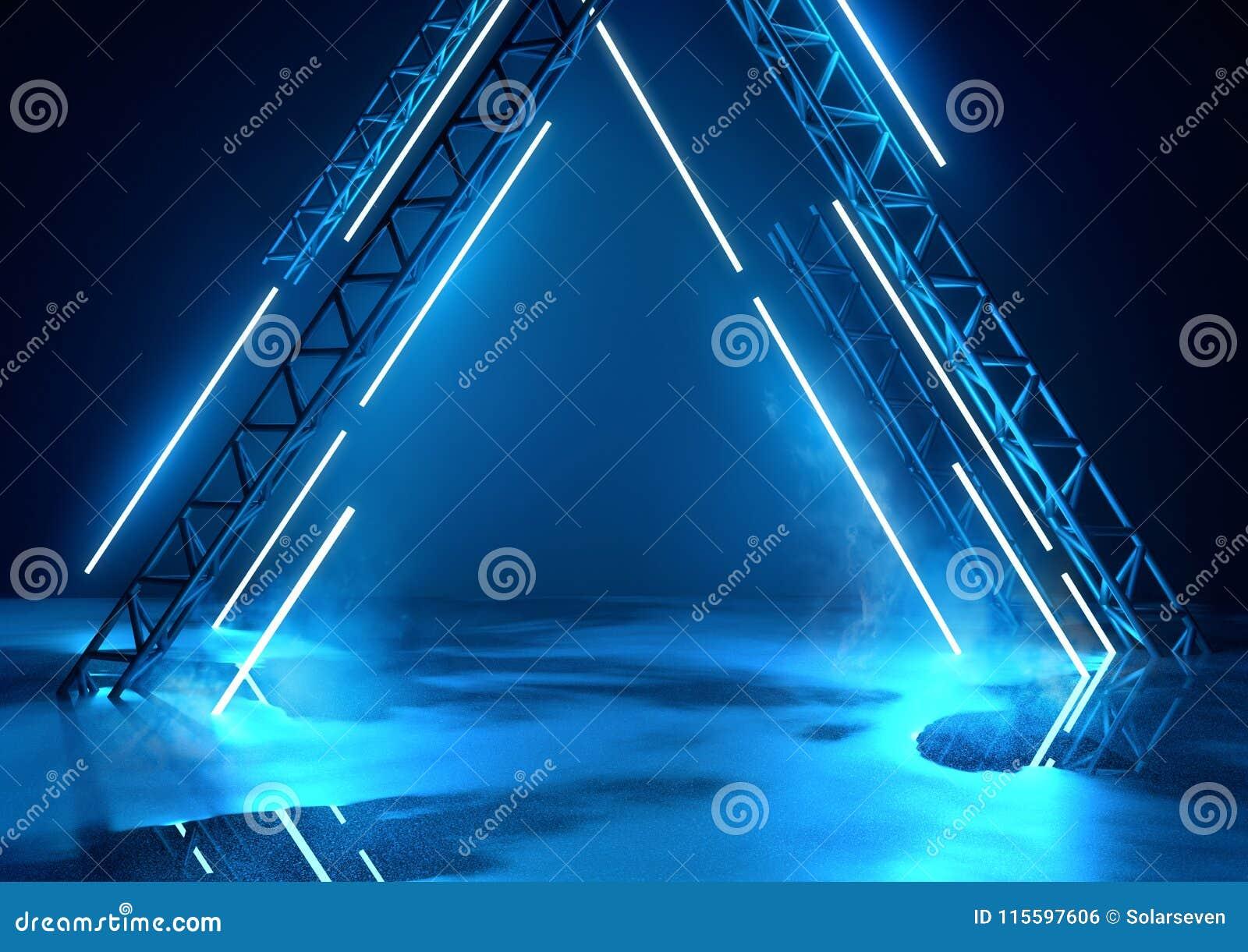 Futuristisch Stadium en Blauwe Verlichting