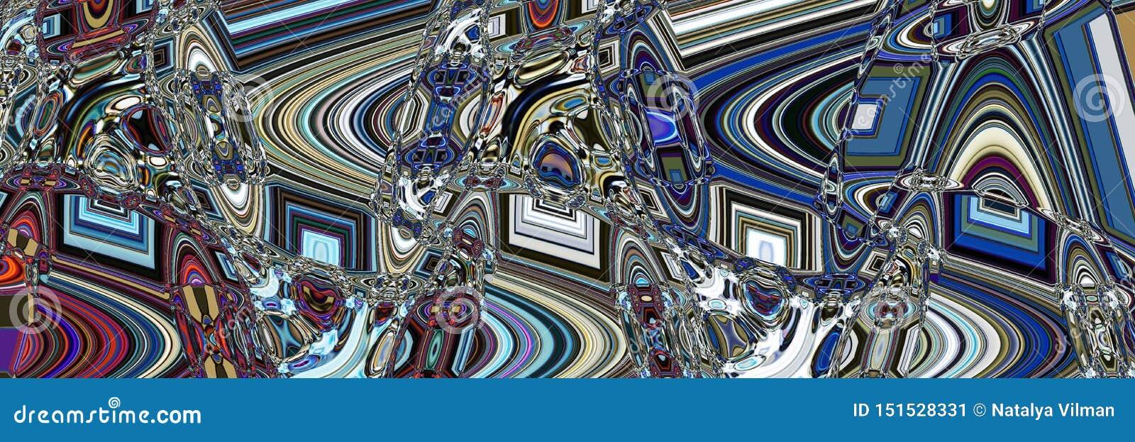 Futuristische abstracte panoramische achtergrond