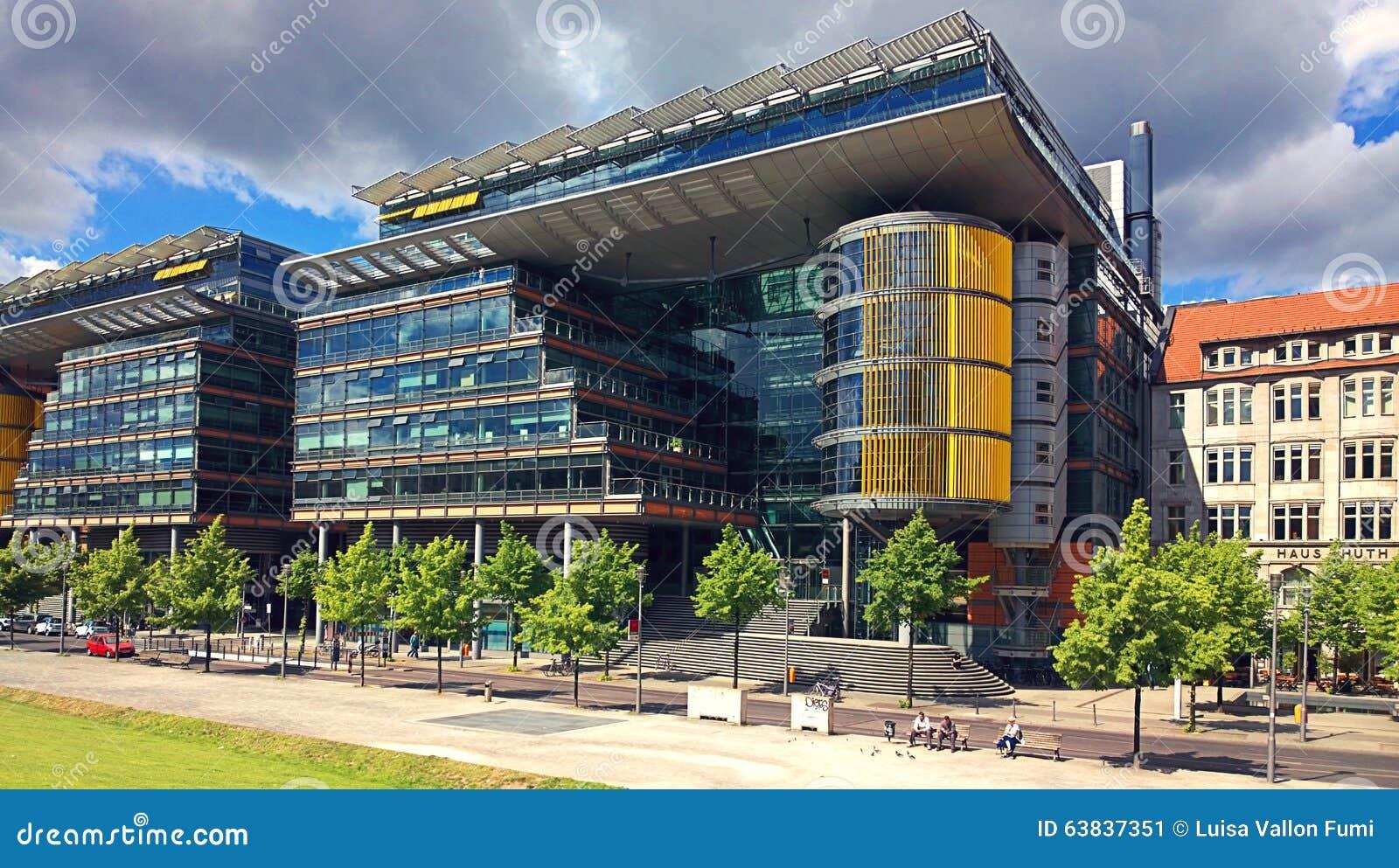 Futuristische Architektur Berlin Germanys Bei Linkstrasse
